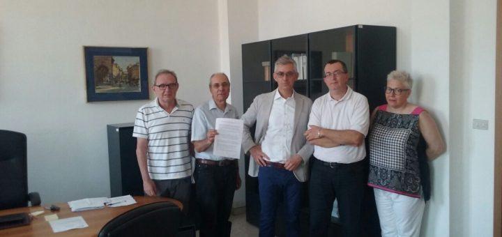 rappresentanti OO.SS. e il direttore dell'INPS di Vicenza