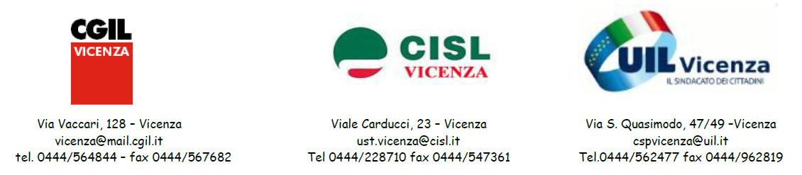 CGIL CISL UIL VICENZA